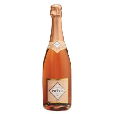 Champagne Pierrel Cuvée Tradition Brut Rosé, caja de 6 botellas.