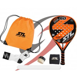 Pack de padel Steel Custom GD edición limitada Eva Soft Plus naranja