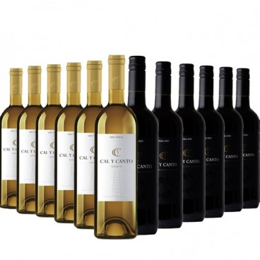 "Selection of 12 bottles ""Cal y canto"" award wine O.D. Tierra de Castilla. 6 red and 6 white."