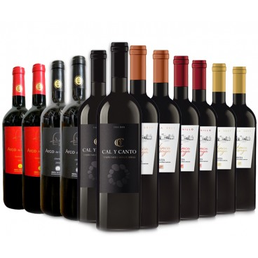 Selection 12 bottles of the best D.O. spanish wines.