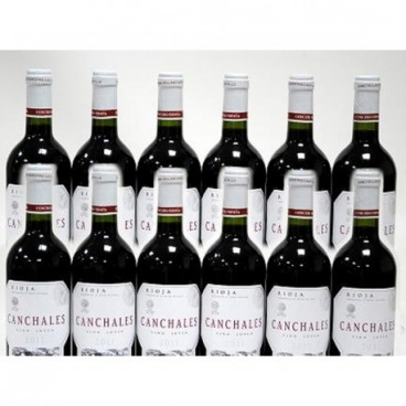 """SELECTION OF 12 BOTTLES OF SPANISH RIOJA RED WINE """"CANCHALES"""""""