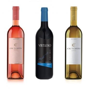 12 BOTTLES SPANISH WINE. 8 AWARD WINE O.D. TIERRA DE CASTILLA WHITE AND ROSÉ + 4 VIRTUOSO MERLOT RED WINE.