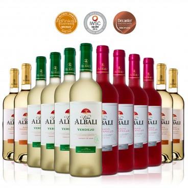 Pack of 12 white and rosé spanish wines VIÑA ALBALI D.O. VALDEPEÑAS awarded