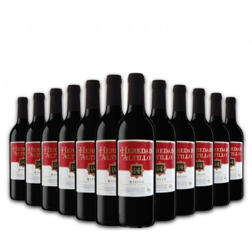"Selection of 12 bottles of ""Heredad de Altillo"" red spanish wine, D.O.Rioja"