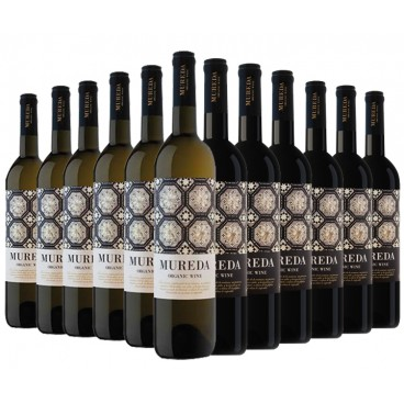"Selection 12 bottles of ""Mureda"" ecological spanish wine."