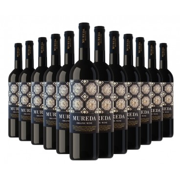 "Selection of 12 bottles of ""Mureda"" ecological spanish red wine."