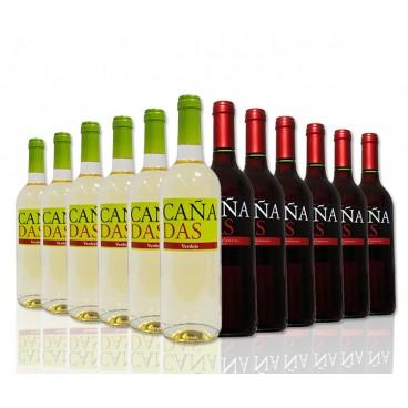 "Selection of 12 bottles ""Cañadas"" spanish wine of Tierra de Castilla."