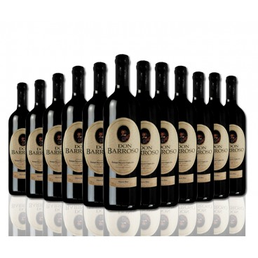 "Selection of 12 bottles ""Don Barroso"" spanish red wine of Tierra de Castilla."