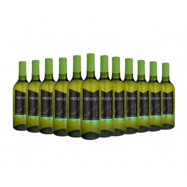 12 BOTTLES OF WHITE SPANISH WINE SAUVIGNON BLANC