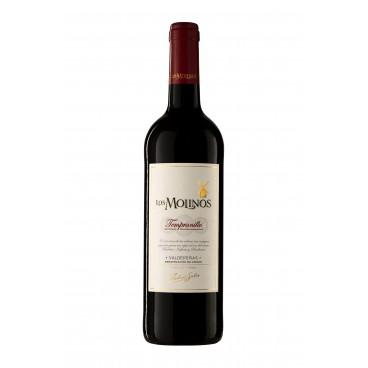 """Pack of 12 spanish red Tempranillo wine """"Los Molinos"""" D.O. Valdepeñas"""