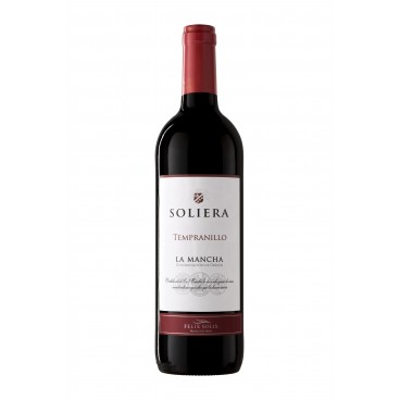 "Pack of 12 spanish red Tempranillo wine ""Soliera"" D.O. La Mancha"