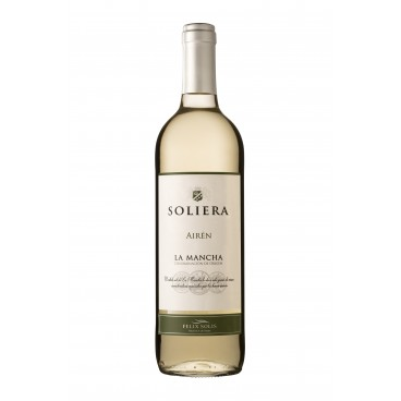 "Pack of 12 spanish Airén white wine ""Soliera"" D.O. La Mancha"