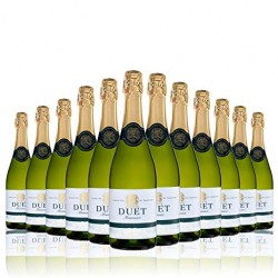 "Selection of 12 bottles of ""DUET"" Sparkling brut white spanish wine of Valdepeñas."