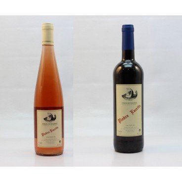 "12 bottles ""Piedra escrita"" spanish red and rose wine D.O. Vinos de Madrid. 15% vol."