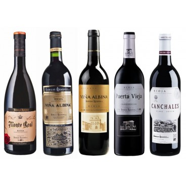 Selecction of 12 bottles of Spanish wines by BODEGAS RIOJANAS D.O. Rioja
