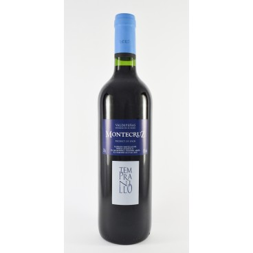 "12 bottles of spanish red Tempranillo La Mancha wine ""Montecruz"" D.O. Valdepeñas"