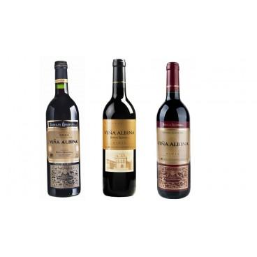 6 botellas de vinos españoles Viña Albina por BODEGAS RIOJANAS D.O. la Rioja