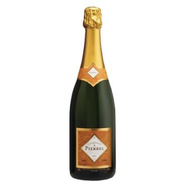 Champagne Pierrel Cuvée Tradition Brut Millésimée, caja de 6 botellas.