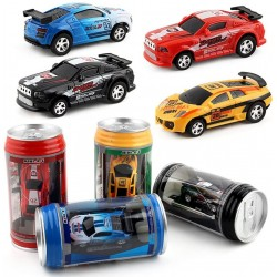 Coche a control Remoto Mini Coke Can Racing Car Vehicle Toy Gift