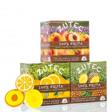 Pack de 9 cajas de capsulas de Zumo Natural Compatible con Dolce Gusto